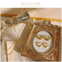 【just LoveR.】Kaia Heart and Curve Earrings Set