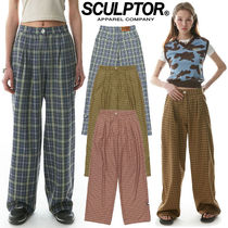 ★SCULPTOR★送料込み★韓国★正規品 Check Wide Pin Tuck Pants
