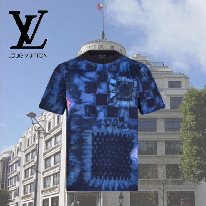 【2021FW】★ルイヴィトン★ ソルトプリントTシャツ (Louis Vuitton/Tシャツ・カットソー) 1A8X1P