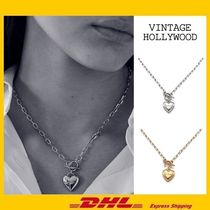 VINTAGE HOLLYWOOD(ヴィンテージハリウッド) ネックレス・ペンダント [VINTAGE HOLLYWOOD] Love Lock Heart Necklace ★ネックレス