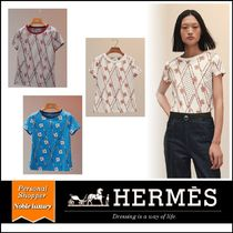 21AW HERMES マイクロプリント「ClicClacaPoisLosanges」Tシャツ