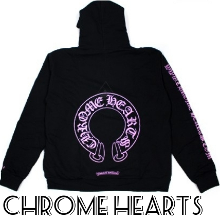 Chrome Hearts Online Exclusive Horse Shoe Hoodie Black/Pink (CHROME HEARTS/パーカー・フーディ) 69270081