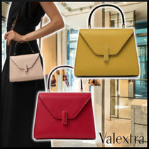 Valextra 21SS BORSA ISIDE MINI leather 3Colors ハンドバッグ