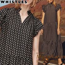 WHISTLES(ホイッスルズ) ワンピース ◇送料込◇Whistles エレファントプリント シルク混マキシワンピ
