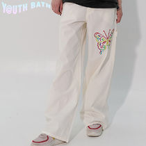★YOUTHBATH★WIDE PANTS_BUTTERFLY WHITE★正規品/ユニセックス