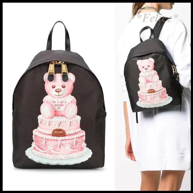 *Moschino*Cake Teddy Bear Backpack 関税/送料込 (Moschino/バックパック・リュック) 69307482