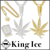 King Ice(キングアイス) ネックレス・チョーカー 【King Ice/送料無料】3mm 14k CANNABIS LEAF NECKLACE 2color