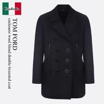 Tom Ford cashmere wool blend double-breasted coat