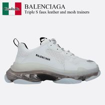 Balenciaga Triple S faux leather and mesh trainers