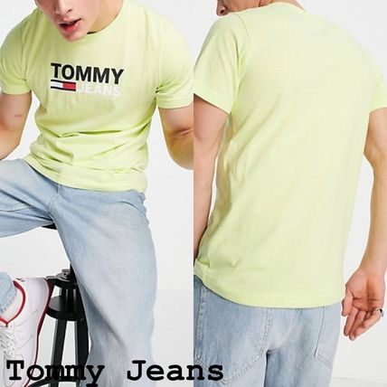 Tommy Jeans corp フロントロゴTシャツ ライム(送料込)