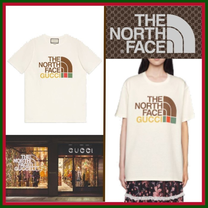 21SS◇メンズもOK◇The North Face x Gucci◇Cotton T-shirt (GUCCI/Tシャツ・カットソー) 69329128
