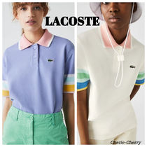 LACOSTE(ラコステ) ポロシャツ 【LACOSTE】新作★ラコステ Striped Sleeve コットン ポロシャツ