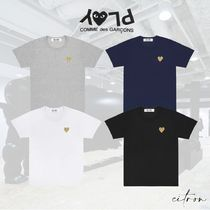 PLAY COMME des GARCONS(プレイコムデギャルソン) Tシャツ・カットソー ★PLAY COMME des GARCONS★Gold Heart Tシャツ Ladies'