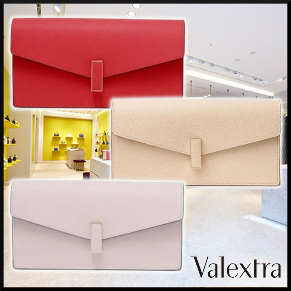 【Valextra】21SS ISIDE POCHETTE 3Colors クラッチバック (Valextra/クラッチバッグ) WBES0080028LOC99-RS  WBES0080028LOC99-PC  WBES0080028LOC99-PA
