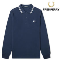 FRED PERRY(フレッドペリー) ポロシャツ 【関税送料込み】FRED PERRY Twin Long Sleeve Polo Shirt
