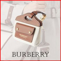 【Burberry】ツートンレザー&キャンバス AirPodsケース