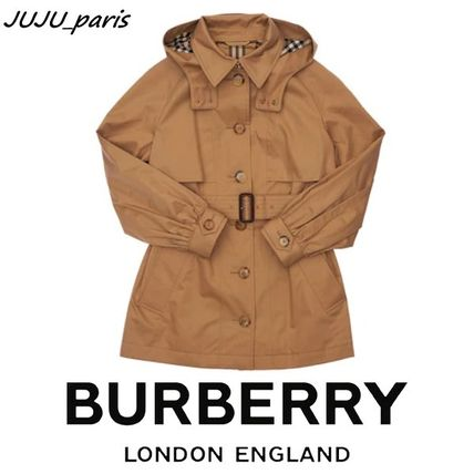 Burberry キッズアウター 大人OK★Burberry★2021AW★チェック裏地トレンチコート★12Y