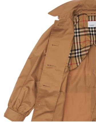 Burberry キッズアウター 大人OK★Burberry★2021AW★チェック裏地トレンチコート★12Y(5)