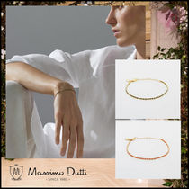 【Massimo dutti】GOLD-PLATED AND COLORED THREAD BRACELET