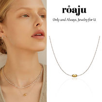 roaju(ロアジュ) ネックレス・ペンダント 韓国発【ROAJU】[silver925] concise oval necklace☆追跡付