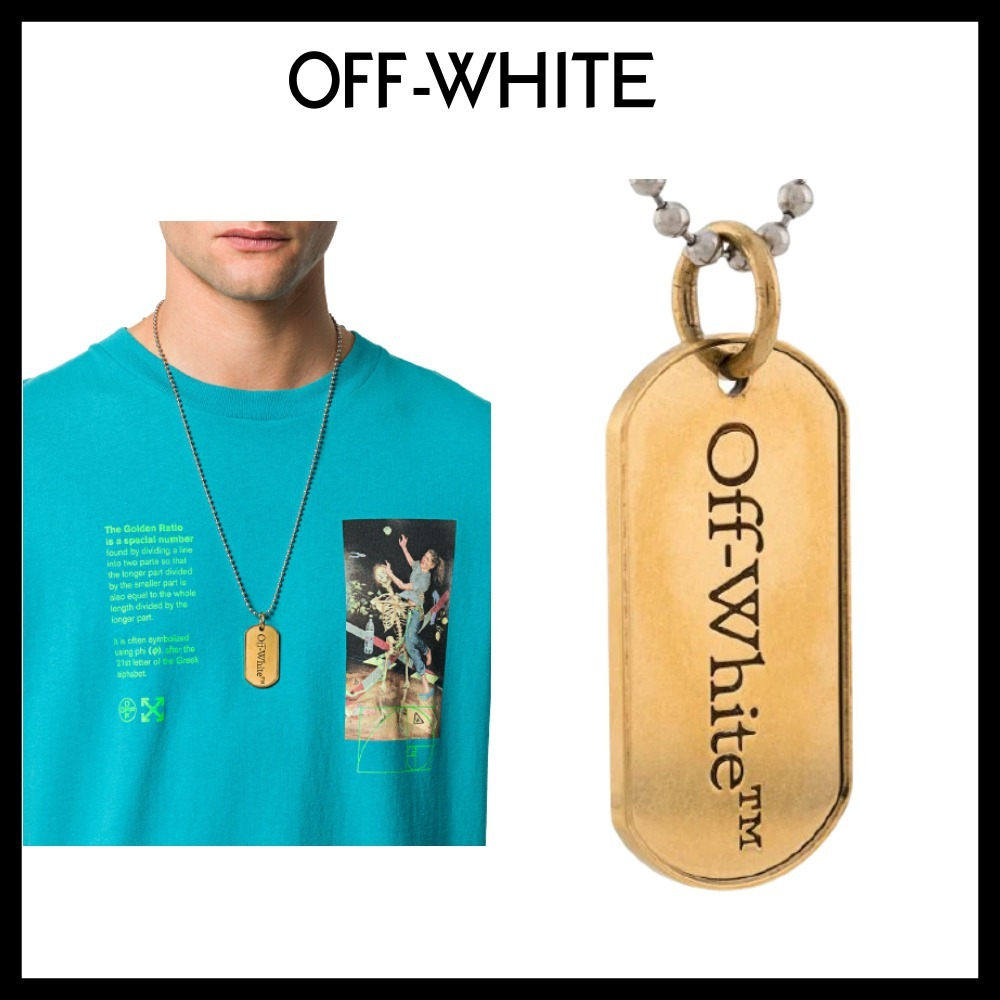 【Off-White】★期間限定SALE★ドッグタグ チェーンネックレス (Off-White/ネックレス・チョーカー) 69418816