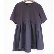 """""""COS"""" GATHERED TOP NAVY"""