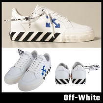 【Off-White】LEATHER LOW SNEAKERS オフホワイト