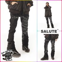 SALUTE(サルーテ) パンツ 【SALUTE 21SS】 LETTERING ARTWORK PRINTED JEANS