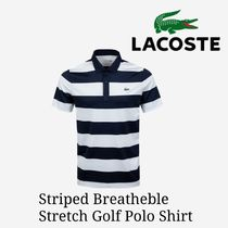 LACOSTE(ラコステ) メンズ・トップス 大注目【LACOSTE】Striped Breathable Stretch Golf  Polo Shirt
