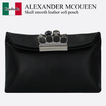Alexander Mcqueen Skull smooth leather soft pouch