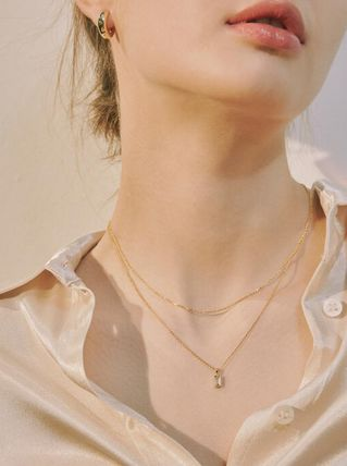 ★HEI(ヘイ)★baguette layered necklace  (2colors)韓国人気