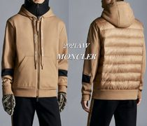 21/22AW【MONCLER】袖ロゴ付きパッド入りMIXスウェットパーカー