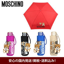 Moschino Couture!  折りたたみ傘 ◇ テディチャーム付き