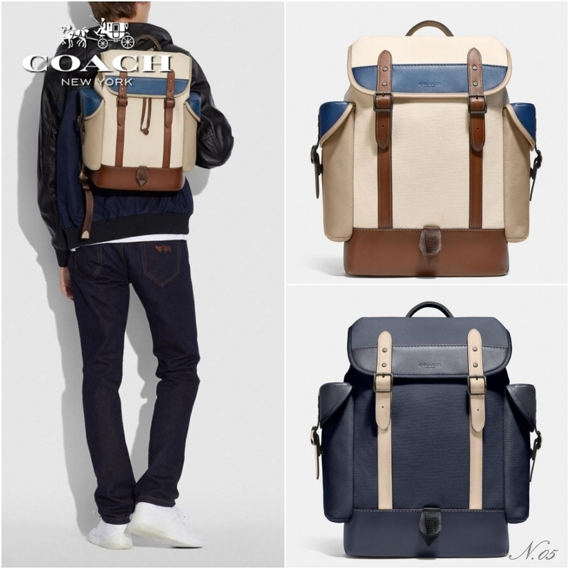 COACH【2021 NEW ◆ Hitch Backpack In Organic Cotton Canvas】 (Coach/バックパック・リュック) Style No. C3803