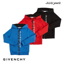 GIVENCHY(ジバンシィ) キッズアウター 大人OK★Givenchy★2021AW★ロゴジップアップフーディー★関税送