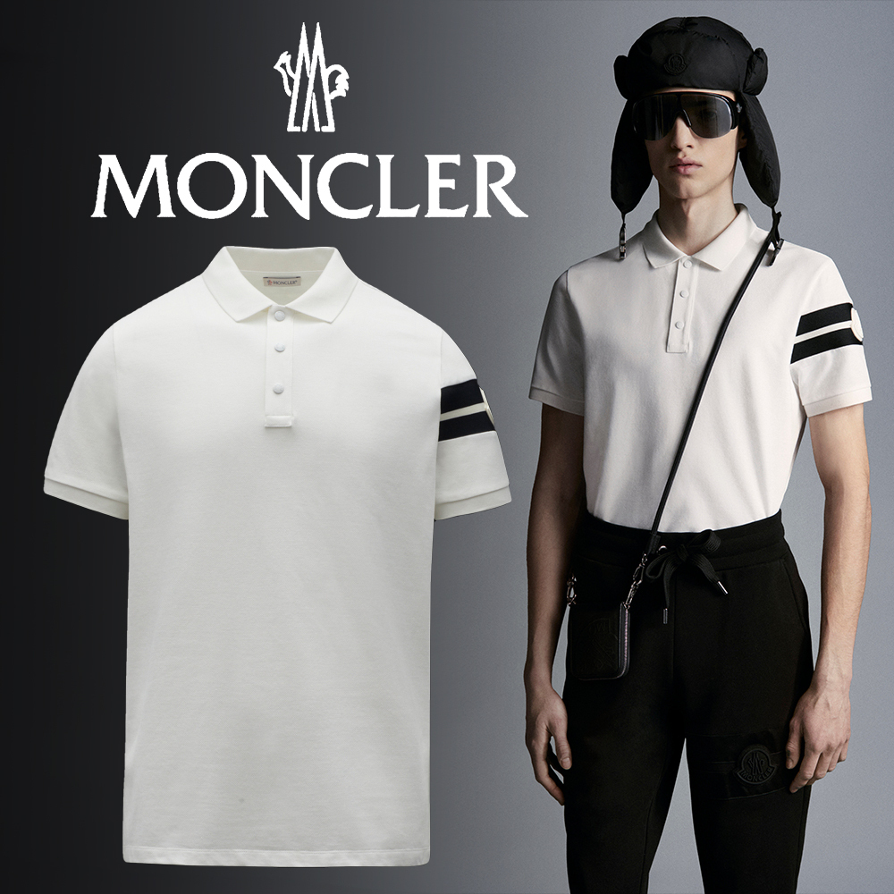 MONCLER(モンクレール)21AW*ロゴ入り コットンピケ ポロシャツ (MONCLER/ポロシャツ) G20918A0000284556