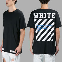 ★OFF WHITE DIAG BLUE COLLAR S/S TEE Tシャツ