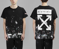 ★OFF WHITE GALAXY BRUSHED ARROW S/S TEE Tシャツ