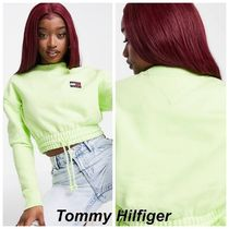 Tommy Jeans cropped ロゴ スウェット