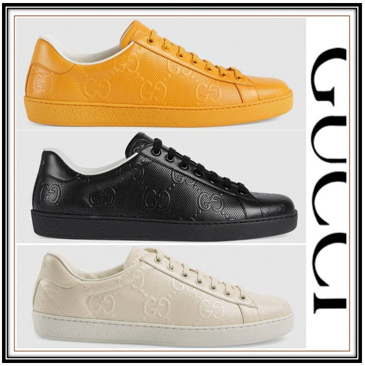 GUCCI  Baskets GG embosse Ace pour homme GG エンボス (GUCCI/スニーカー) 625787 1XK10 9022  625787 1XK10 7636  625787 1XK10 1000