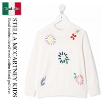 STELLA MCCARTNEY KIDS FLORAL EMBROIDERED PULLOVER