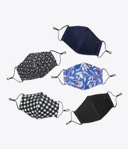 Tory Burch PRINTED FACE MASK, SET OF 5