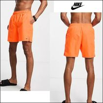 NIKE Swimming essential 7 inch volley shorts in orange♪