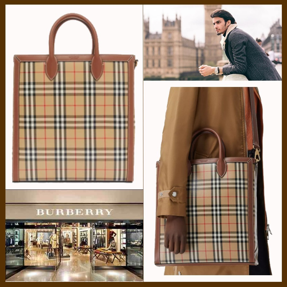 21SS◆品格漂う存在感◆BURBERRY◆Vintage Check Tote (Burberry/トートバッグ) 69565356