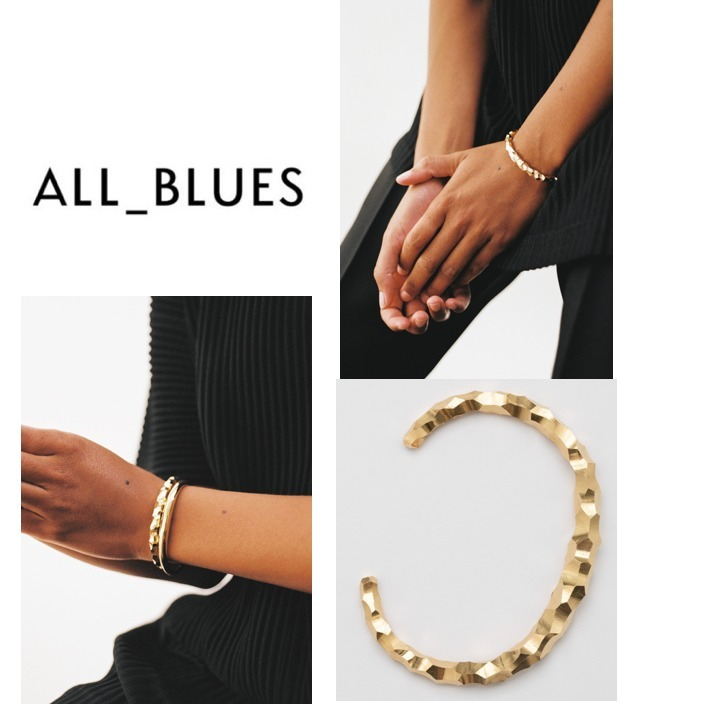All Blues◆Snake Thick & Carved ブレスレット◆ゴールド (All Blues/ブレスレット) 69566929
