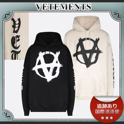 21AW/送料込≪VETEMENTS≫ DOUBLE ANARCHY JERSEY パーカー