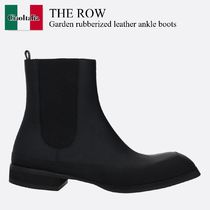 The Row Garden rubberized leather ankle boots