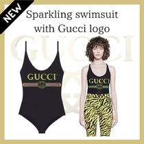 GUCCI☆Sparkling swimsuit with Gucci logo☆DHL送料込み