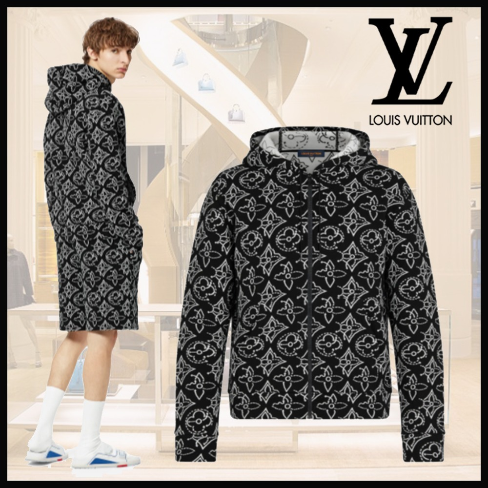 21FW☆ルイヴィトン☆NBAフーディ コットン ナイロン モノグラム (Louis Vuitton/パーカー・フーディ) 1A8X0O  1A8X0P  1A8X0Q