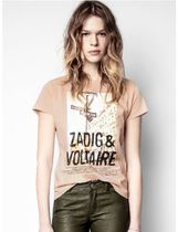 ZADIG & VOLTAIRE(ザディグ エ ヴォルテール) Tシャツ・カットソー ZADIG & VOLTAIRE ZOE PHOTOPRINT COTON Tシャツ